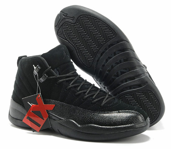 Air Jordan Retro 12 All Black Discount